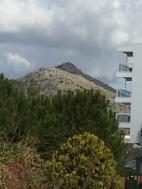 der Berg vom Hotel aus gesehen