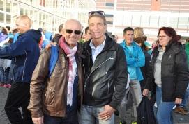 mit Christian beim Frankfurt Marathon