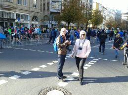 einmal mitten auf der Straße in Frankfurt - beim Marathon